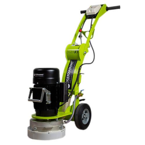Boden-Schleifer EIGERJET, 230V / 2200W / 3PS / 67kg /  Ø250mm / mit Absaugstutzen und Wasseranschluss / trocken + nass