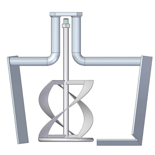 Rührquirl Universal zu Eibenstock TwinMix 1800, Anschluss M14
