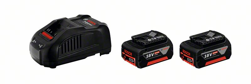 Bosch Akku Starter-SET 2x Akku 18V 4,0 Ah PRO Core GBA + Schnellladegerät GAL 1880 CV