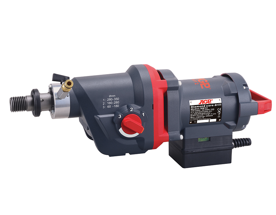 """Kernbohrmotor AGP DM12 / 230V  / 3500W / Bohrbereich <Ø 350mm / Gewicht: 12.9kg / Anschluss: 1 1/4"""" UNC & 1/2"""" BSP"""