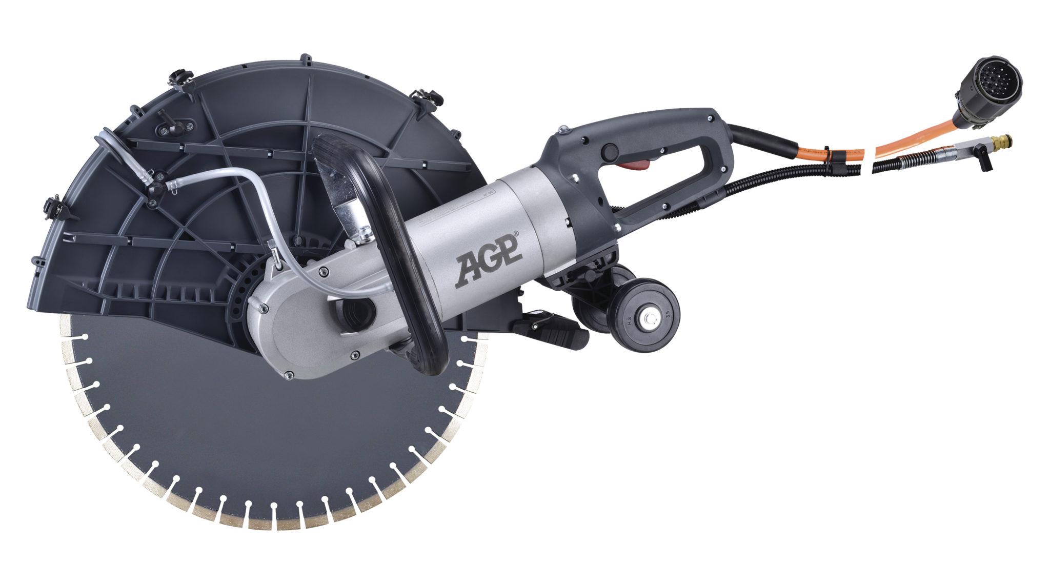 Hochfrequenz - Dia - Handsäge AGP C18/400V/6500W / 230V/5500W/S-Tiefe 175mm/11.6kg/Motor Wasserg.&Bürstenlos/Bündigschnitte