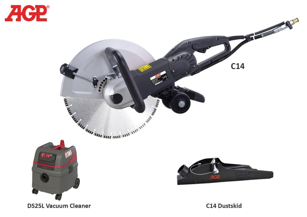 Dia - Handsäge AGP C14 / 230V/2800W / Ø350mm / S-Tiefe 125mm / Gewicht: 8.3kg / Trocken/Nass