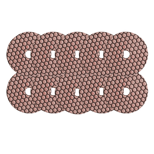 Dia-Schleifpads-SET Trocken Korn 200 10 Stk. [Weihnachtsaktion Nr. 7]