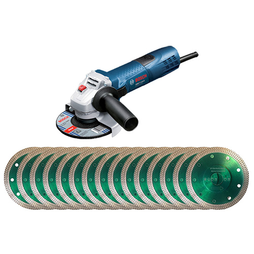 Dia-Trennscheiben Ø115 mm 15 Stk. & Winkelschleifer 1 Stk. -SET [Weihnachtsaktion Nr. 1]