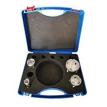 Dia-Trockenbohrkronen-AKTIONS-SET, Silver Drill Premium, Ø20, Ø35, Ø40, Ø60, im Koffer