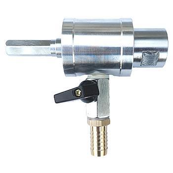 """Wasserspühlbüchse Premium mit Wasseranschluss, Abstellhahn und 8-Kant Anschluss [Maschinenseitig] und 1/2"""" i [Werkzeugseitig]"""